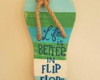 Wooden Flipflop Plaque