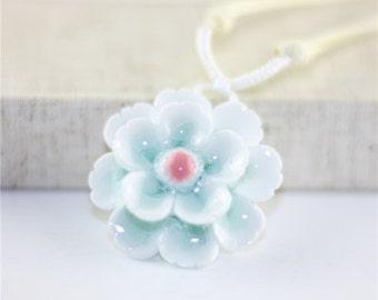 Blue Ice Sakura Necklace