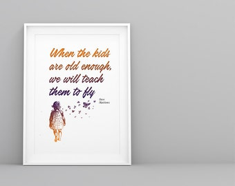 """Dave Matthews Band """"You and Me"""" Poster - 5x7, 8x10, 11x14 - Typography Song Lyrics - Pinterest Art - Nursery Decor - Teach the kids to fly"""