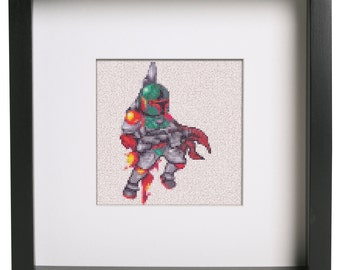 Star Wars Boba Fett Cross Stich Pattern For Cross Stitch And Star Wars Fans