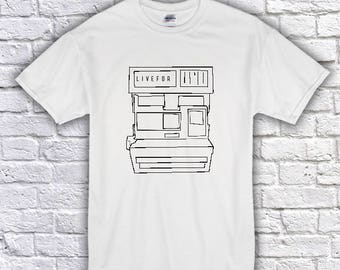 Live For Apparel Polaroid Camera T-Shirt - Vintage Camera - Road Trip - Tumblr Styles - Canada - Toronto - Photography - Hipster Clothing