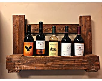 upcycled rustic pallet wine rack shelf recycled wine rack reclaimed wood wine rack