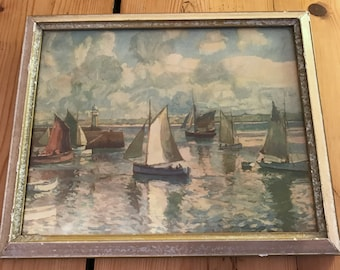 Vintage Normill Made in England sailing print