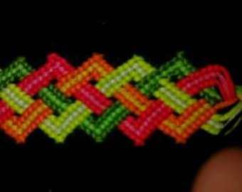 one of a kind design fingerwoven bracelet or bookmark