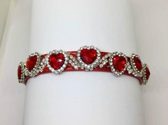 Red Heart Valentine Cat Collar