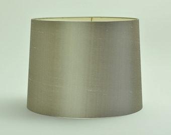 Lamp shade, sand shantung silk
