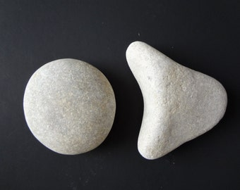 Natural Stone Pebble Lake Pebble Set Of Two Natural Stones