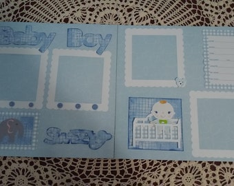 Baby Boy 12x12 Scrapbook pages (2)