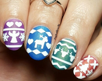 Cozy Sweater Nail Decal