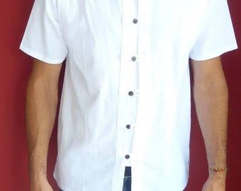 100% natural cotton shirt, Mao collar