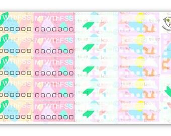 Modern Love Tracker Minis, planner sticker