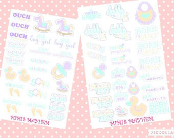 COMPLETE BABY SET // Girl // Boy // Neutral // Stickers // Planner //