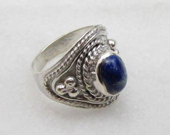 Lapis Silver Ring.
