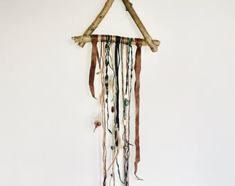 Handcrafted bohemian wall hanging