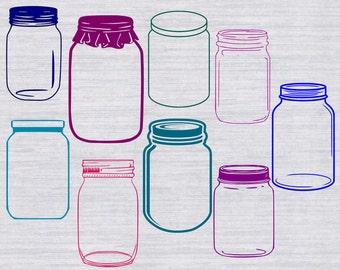 Mason Jar SVG Bundle, mason jar cut file, mason jar clipart, svg files for silhouette, cricut download, svg files, dxf, png, vector, vinyl