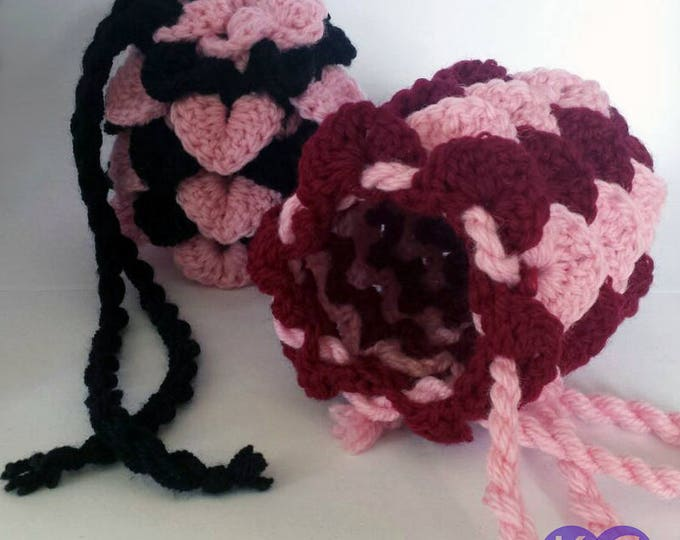 Dragon Egg Bag, Crocheted bag, Drawstring pouch, Dragonscale bag, devil fruit, Crochet bag, Dice bag, DnD Bag, Dice pouch, Gifts for her,