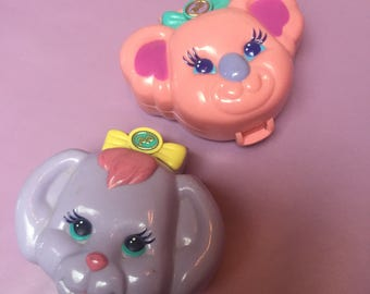 Vintage polly pockets animal compact 90s best bluebelle toys