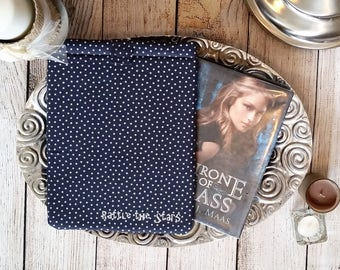 Rattle The Stars Monogrammed Padded Book Sleeve, Hardback sleeve, book sleeve, book protector paperback sleeve, ToG, Throne of Glass