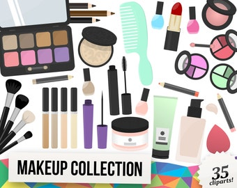 Makeup Clipart Collection, Lipstick Clipart, Mascara Clipart, Lotion Clipart, Blush Clipart, Planner Clipart, Scrapbooking Cliparts