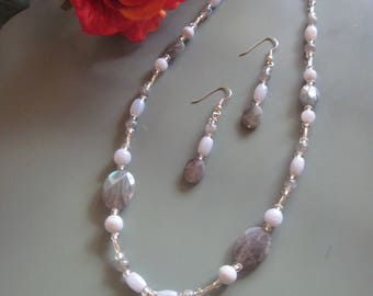Stone Medicine Jewelry Labradorite & Blue Lace Agate