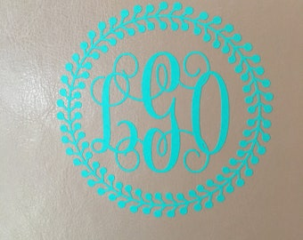 Monogram Car Decals