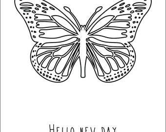 "Poster ""Hello new day '"