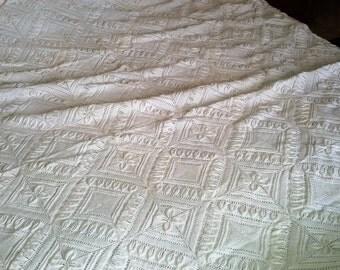 Knitted blanket Bedspread Vintage