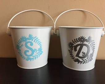 Personalized Initial 1-CT Metal Pail