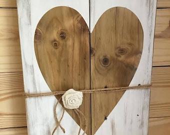 Rustic Vintage Handmade Love heart