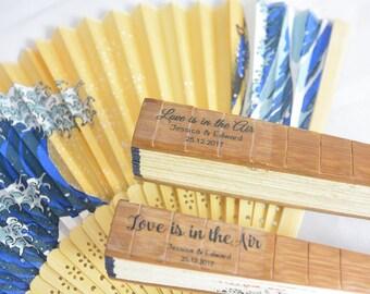 Wedding Fan Label, Hand Fan Label,Program Fan label,Personalized Fan Sticker,Custom Label Fan, Clear Wedding Label, Personalized Clear Label