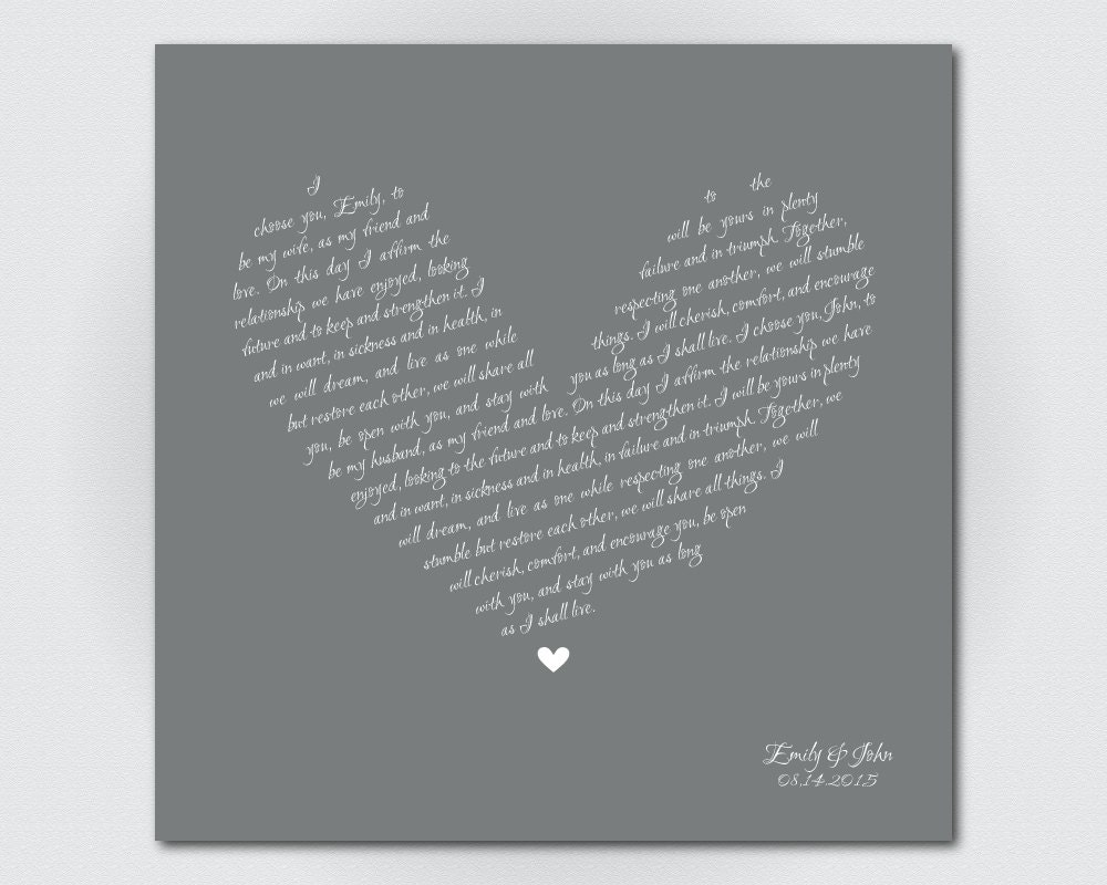 Sister Wedding Gift Canvas Art Print Personalized Gift by Vowology