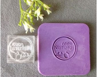 100 % Natural Acrylic Soap Stamp