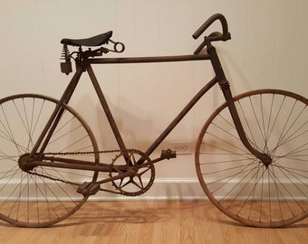 Antique 19th Century American Wood Rimmed Bicycle