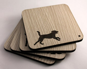Fetch Me a Drink - Set of 4 Laser Cut Coasters