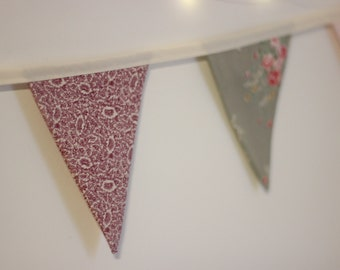 Floral and Pastel Bunting