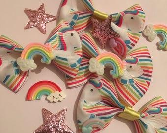 Unicorn rainbow bow
