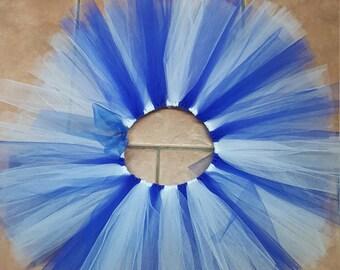 Royal Blue and White Tutu Skirt