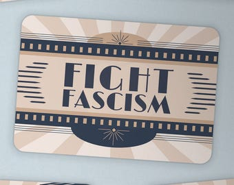 Fight Fascism —sticker resist resistance antifa equality freedom unity justice anti-oppression art deco 1930s