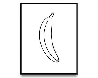 banana printable banana print banana art bananas print printable art art