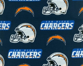 San Diego Chargers NFL Cotton Broadcloth Fabric by Fabric Traditions