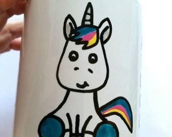 Always Be A Unicorn, Hand Painted Coffee Mug, Cute Gift Mug