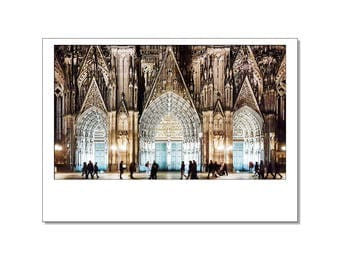 Post cards / postcards from Cologne in the Polaroid style