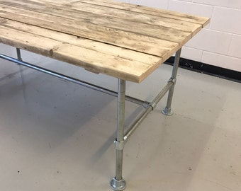 Industrial Dining Table Rustic solid antique Vintage Reclaimed