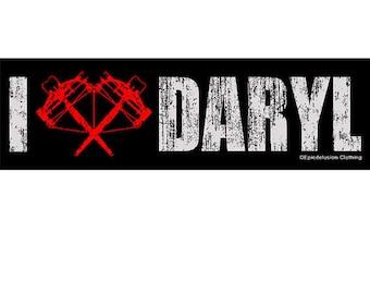 I Heart Daryl Bumper Sticker - Walking Dead Bumper Stickers