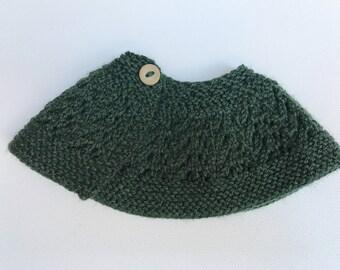 Dark Green Capelet