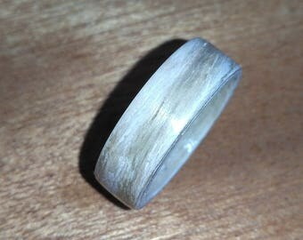 Silver Oak Bentwood Ring