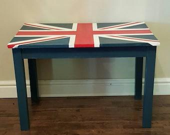 Bespoke union jack coffee table