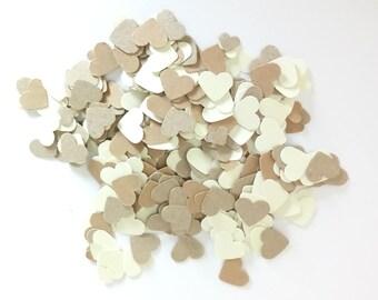 Handmade heart table confetti