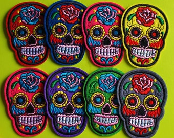 Embroidered Mexican Skull