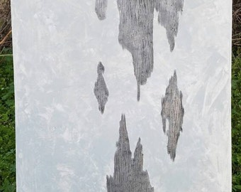 Gray Abstract, Textured Painting, Abstract Painting